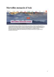 thumbnail of Merveilles menacées d'Asie (1)